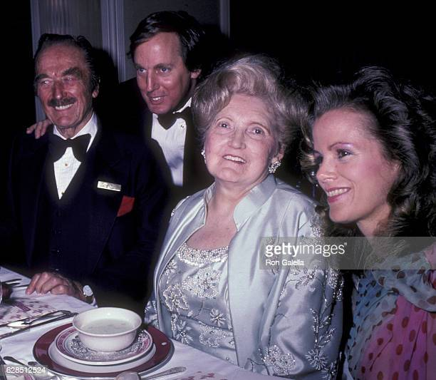 Fred Trump Robert Trump Mary Anne Trump and Blaine Trump attend 38th Annual Horatio Alger Awards Dinner on May 10 1985 at the Waldorf Hotel in New...