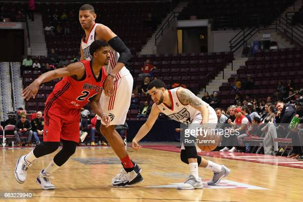 Fred VanVleet of the Raptors 905 dribbles the ball against the Windy City Bulls on March 30 2017 in Mississauga Ontario Canada NOTE TO USER User...