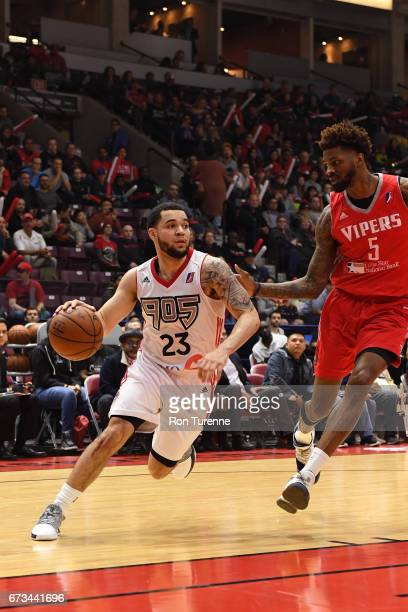 Fred VanVleet of the Raptors 905 drives to the basket against the Rio Grande Valley Vipers during Game Two of the DLeague Finals at the Hershey...