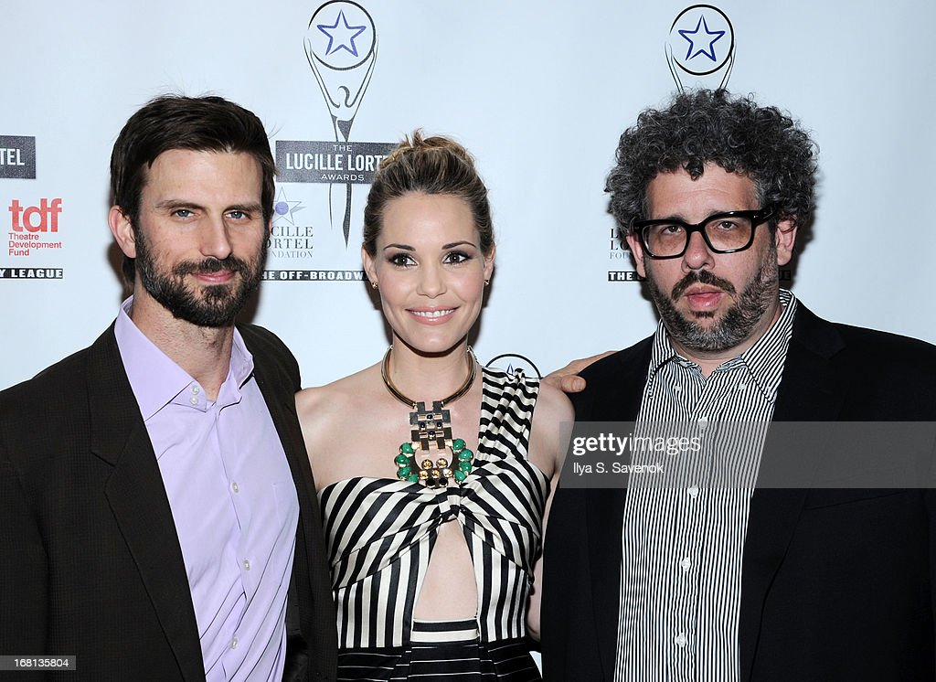 Fred Weller, Leslie Bibb and Neil LaBute attend the 28th Annual Lucille Lortel Awards at NYU Skirball Center on May 5, 2013 in New York City.