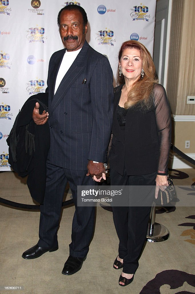 Fred Williamson (L) and guest attend the 23rd annual Night Of 100 Stars black tie dinner viewing gala held at the Beverly Hills Hotel on February 24, 2013 in Beverly Hills, California.