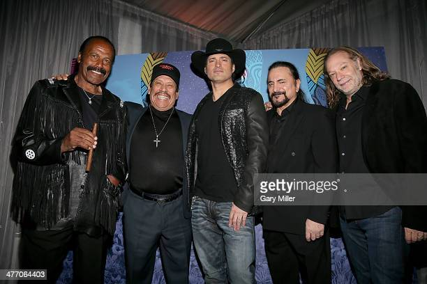 Fred ' Williamson Danny Trejo Robert Rodriguez Tom Savini and Greg Nicotero pose on the red carpet during the Texas Film Awards at Austin Studios on...