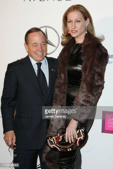 Fred Wilson and Amy Sacco during Key to the Cure Launch by Saks Fifth Avenue at Gotham Hall in New York City New York United States