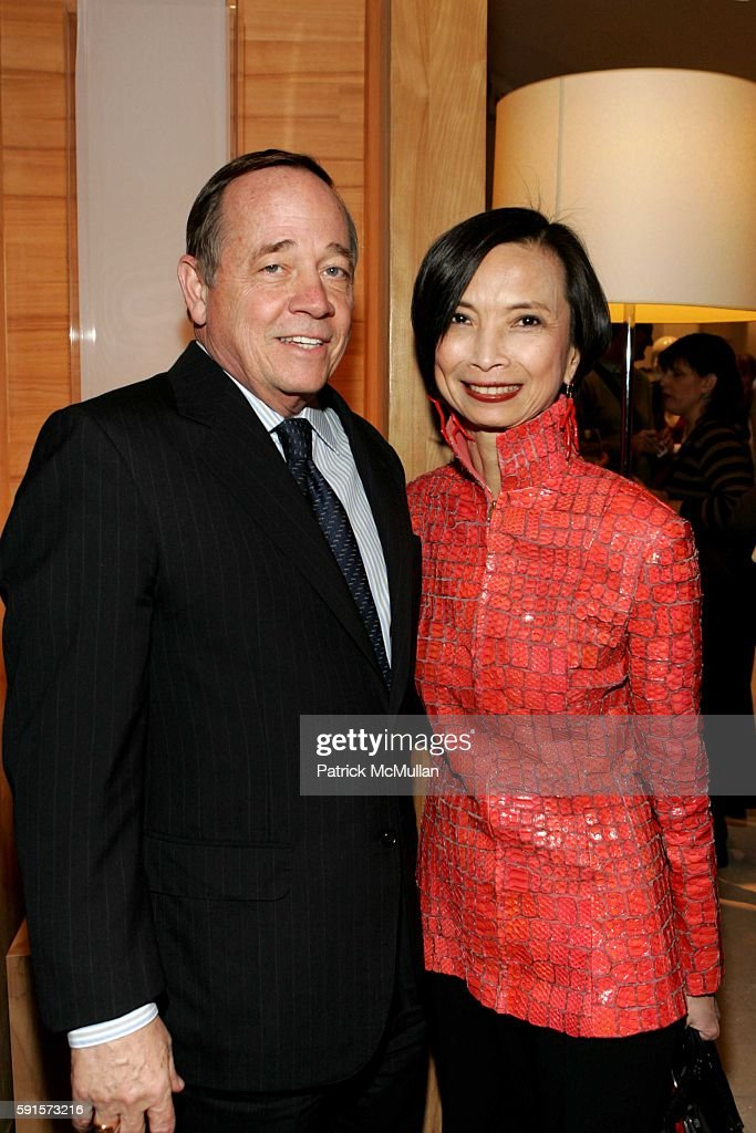 Fred Wilson and Josie Natori attend Saks Fifth Ave Holiday Press Luncheon at Saks Fifth Ave on December 13 2005 in New York City
