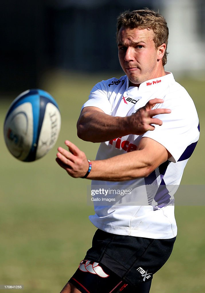 Fred Zeilinga during a Sharks training session at Growthpoint Kings Park on June 19, 2013 in Durban, South Africa.