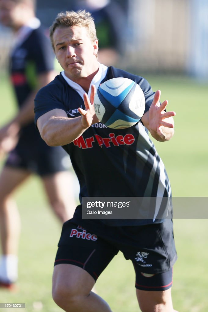 Fred Zeilinga during The Sharks training session at Growthpoint Kings Park on June 13, 2013 in Durban, South Africa.