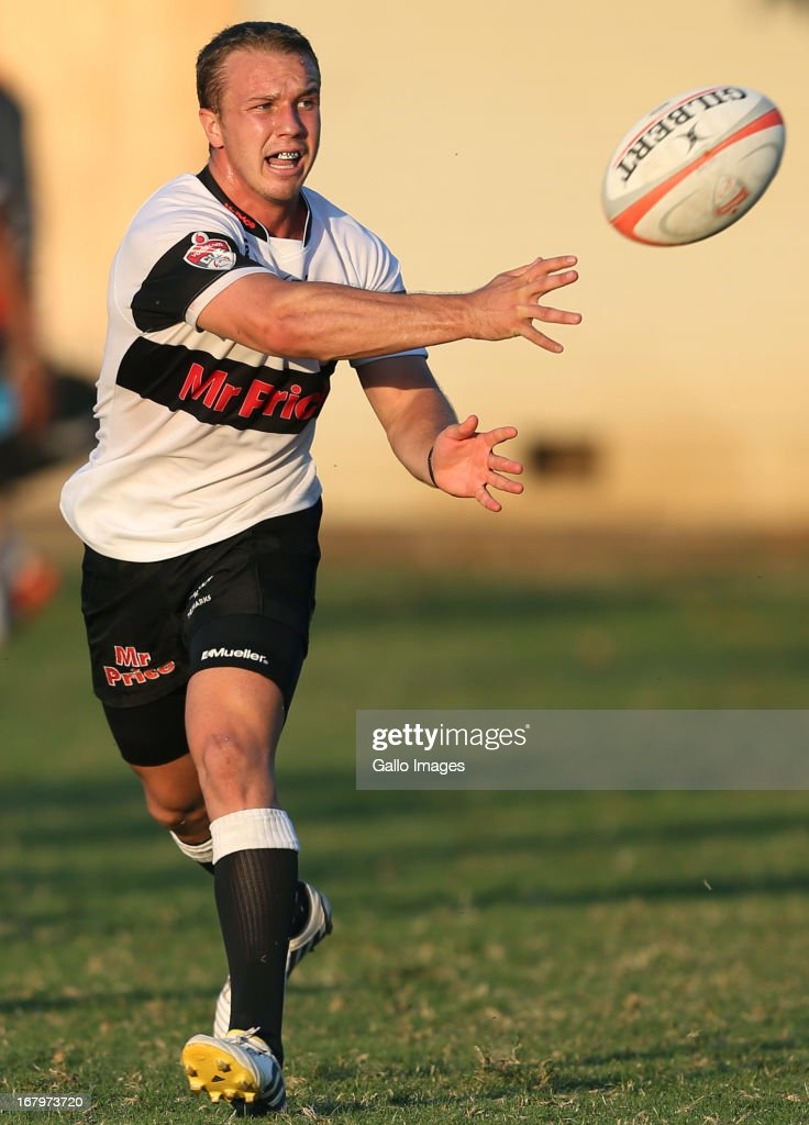Fred Zeilinga of Sharks in action during the Vodacom Cup quarter final match between Sharks XV and MTN Golden Lions at Kings Park on May 03, 2013 in Durban, South Africa.