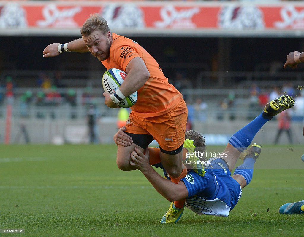 Fred Zeilinga of the Cheetahs in action during the Super Rugby match between DHL Stormers and Toyota Cheetahs at DHL Newlands on May 28, 2016 in Cape Town, South Africa.