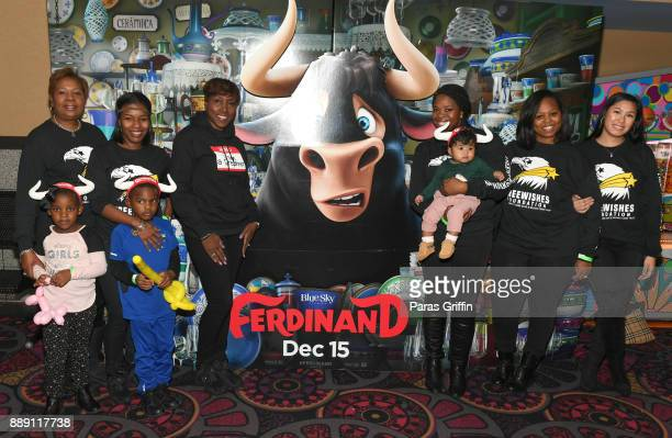 Freda Robinson Chereck Donaldson Stephanie Jester Jasmine Crowe Tia Anderson and Lisa Le attend 'Ferdinand' special screening hosted by Future...