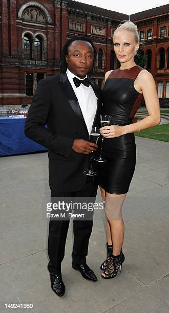 Freddie Achom and Asa Stensson attend the Sports For Peace Fundraising Ball at The VA on July 25 2012 in London England