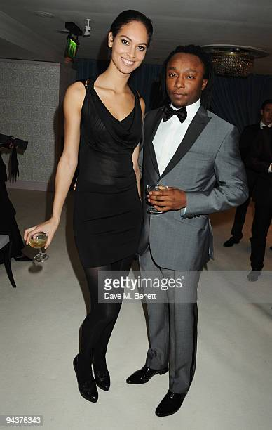 Freddie Achom and guest attend the Grey Goose Character Cocktails Winter Fundraiser Ball in aid of the Elton John AIDS Foundation at the Grey Goose...