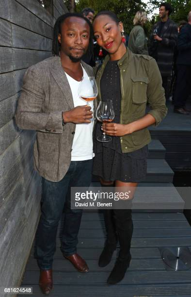 Freddie Achom and Vanessa Kingori attend the Clos19 launch dinner on May 10 2017 in London England
