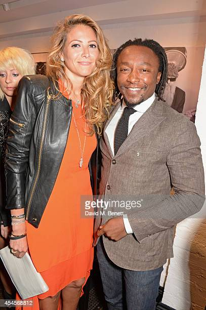 Freddie Achom attends as John Varvatos launch their first European store in London on September 3 2014 in London England