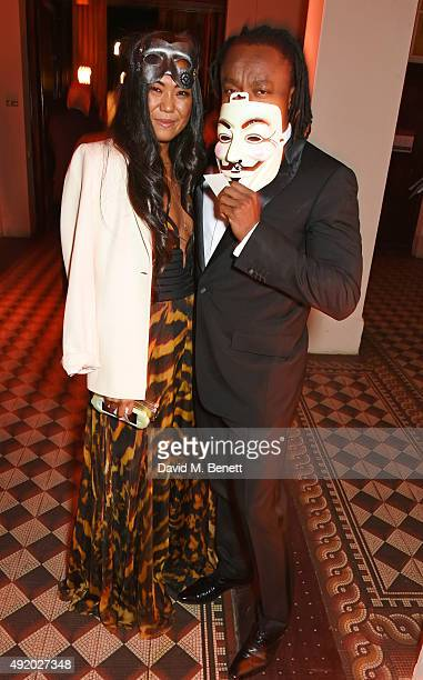 Freddie Achom attends Eva Cavalli's birthday dinner party at One Mayfair on October 9 2015 in London England