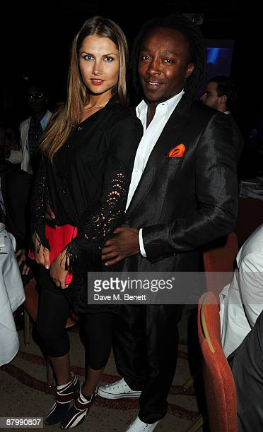 Freddie Achom attends The London Club And Bar Awards 2009 at the Park Plaza Riverbank Hotel on May 26 2009 in London England