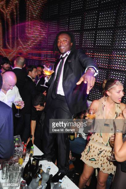 Freddie Achom attends the party hosted by Paris Hilton to celebrate her week during the 62nd International Cannes Film Festival at the Jalouse Club...