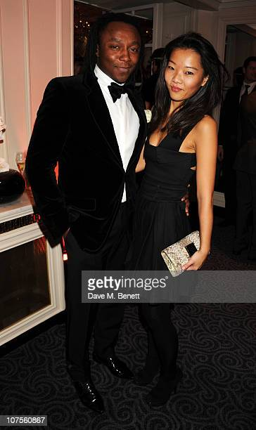 Freddie Achom attends the Quintessentially 10th anniversary party at The Savoy Hotel on December 13 2010 in London England