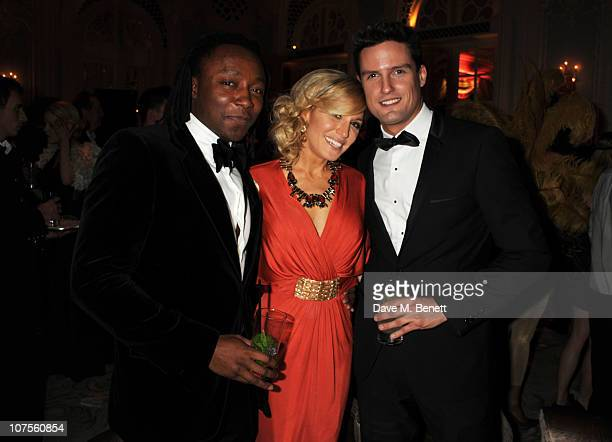Freddie Achom Hofit Golan and Stephen Bowman attend the Quintessentially 10th anniversary party at The Savoy Hotel on December 13 2010 in London...