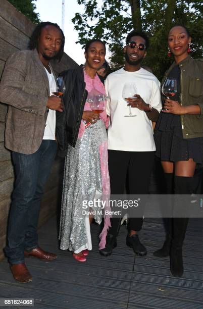 Freddie Achom Susan Bender Tinie Tempah and Vanessa Kingori attend the Clos19 launch dinner on May 10 2017 in London England