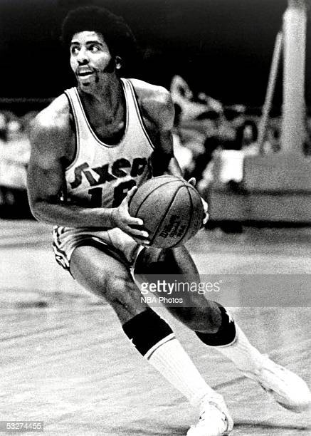Freddie Boyd of the Philadelphia 76ers drives to the basket during an NBA game at the Spectrum circa 1972 in Philadelphia Pennsylvania NOTE TO USER...