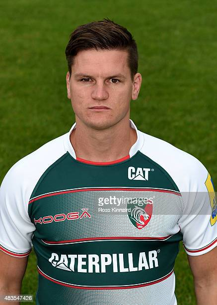 Freddie Burns of Leicester Tigers poses for a portrait at the photocall held at the Leicester Tigers training ground on August 10 2015 in Leicester...