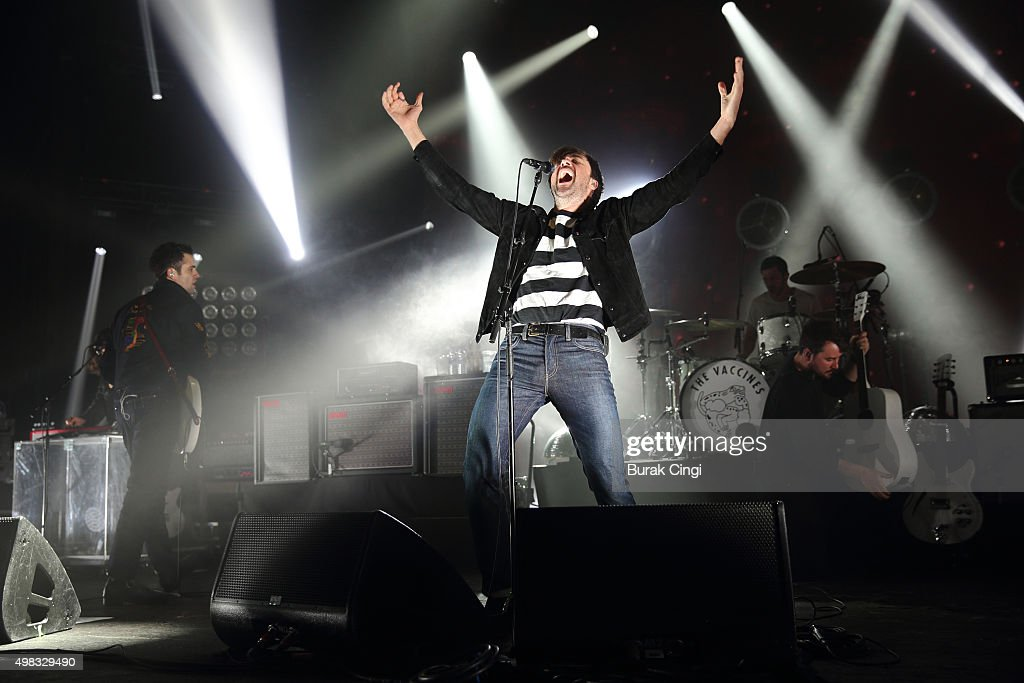 Freddie Cowan and Justin HaywardYoung of The Vaccines perform live on stage at O2 Academy Brixton on November 22 2015 in London England