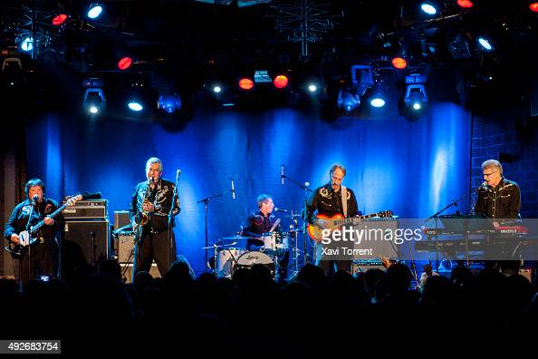 Freddie Dennis Rob Lind Dusty Watson Larry Parypa and Gerry Roslie of The Sonics perform in concert at Sala Bikini on October 14 2015 in Barcelona...