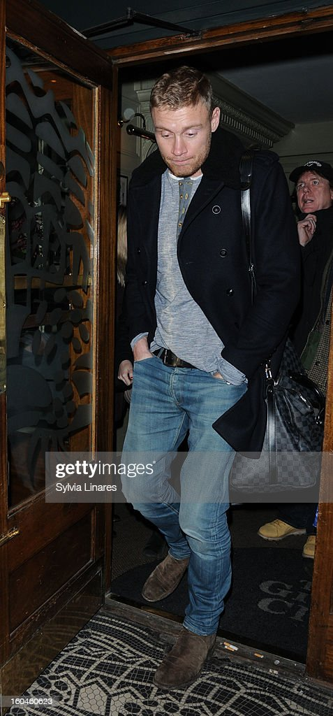 Freddie Flintoff at the Groucho Club on January 31, 2013 in London, England.