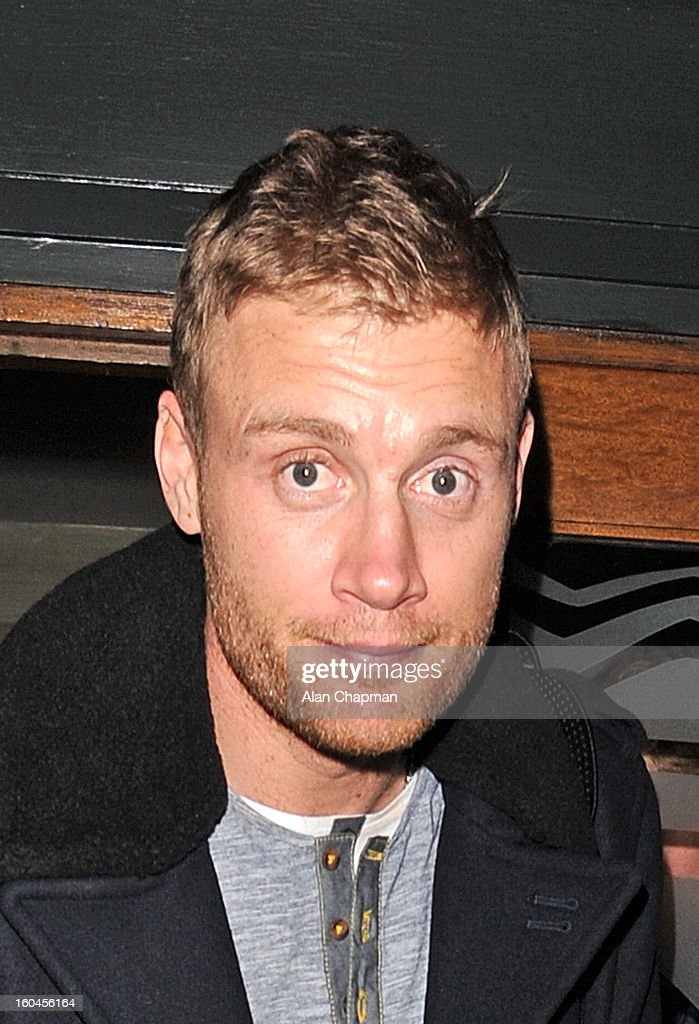 Freddie Flintoff sighting at the Groucho Club on January 31, 2013 in London, England.