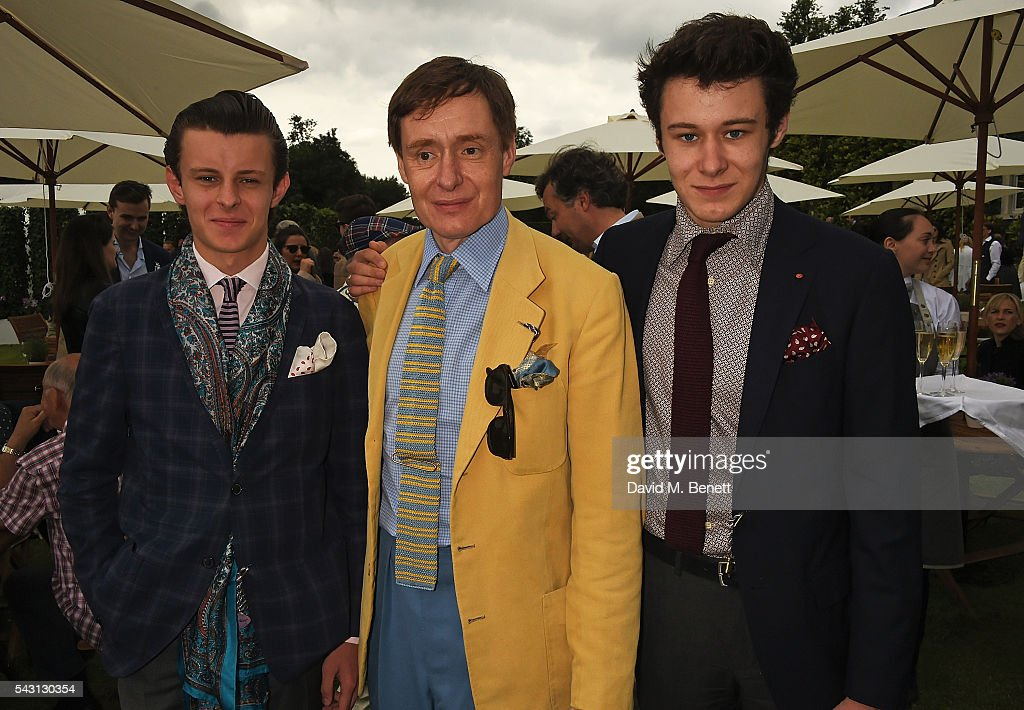 Freddie Foulkes, Nick Foulkes and Max Foulkes attend The Cartier Style et Luxe at the Goodwood Festival of Speed at Goodwood on June 26, 2016 in Chichester, England.