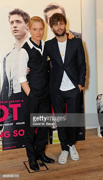 Freddie Fox and Douglas Booth poses at 'The Riot Club' photocall at the BFI Southbank on September 15 2014 in London England