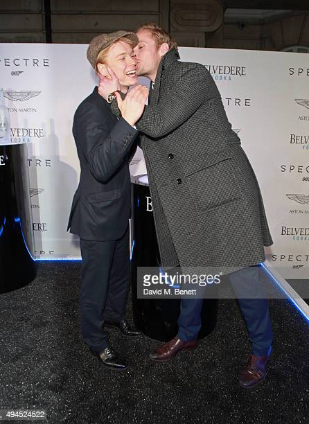 Freddie Fox and Jack Fox attend the exclusive screening of Spectre hosted by Belvedere Vodka and Aston Martin at the Curzon Mayfair on October 27...