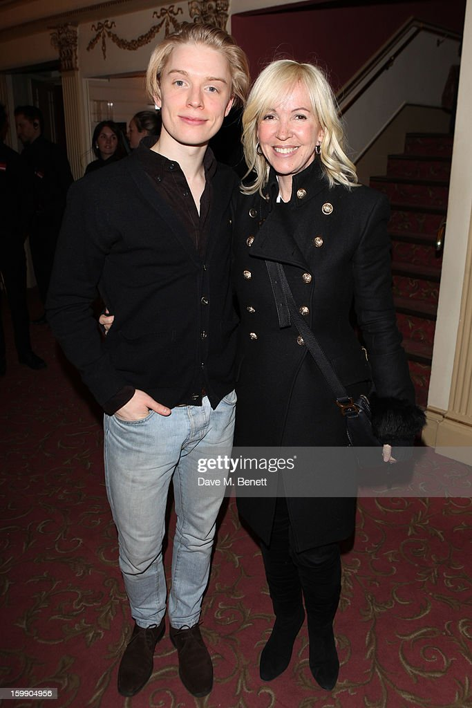 Freddie Fox and Sally Greene attend the press night for 'The Judas Kiss' at Duke of York's Theatre on January 22, 2013 in London, England.