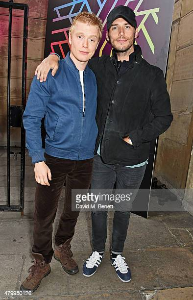 Freddie Fox and Sam Claflin attend the Years Years VIP album launch party in association with ASOS at One Mayfair on July 8 2015 in London England