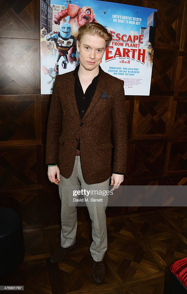 Freddie Fox attends a VIP screening of Harvey Weinstein's 'Escape From Planet Earth' at The W Hotel on February 27, 2014 in London, England.