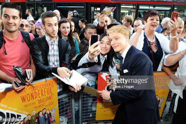 Freddie Fox attends the UK Premiere of 'Pride' at Odeon Camden on September 2 2014 in London England