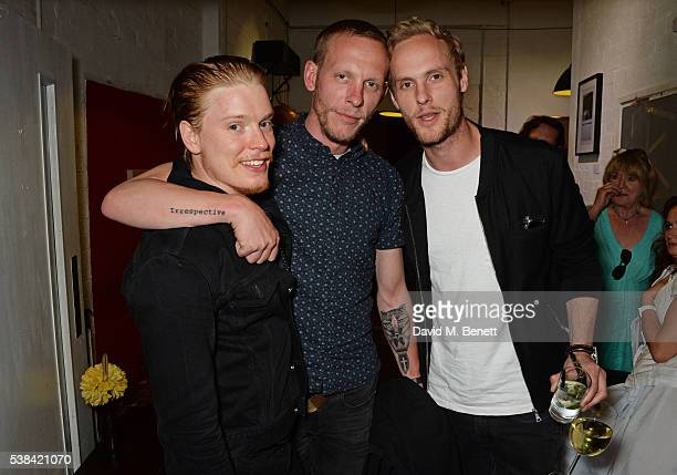 Freddie Fox Laurence Fox and Jack Fox attend the press night after party for 'A Midsummer Night's Dream' at Southwark Playhouse on June 6 2016 in...