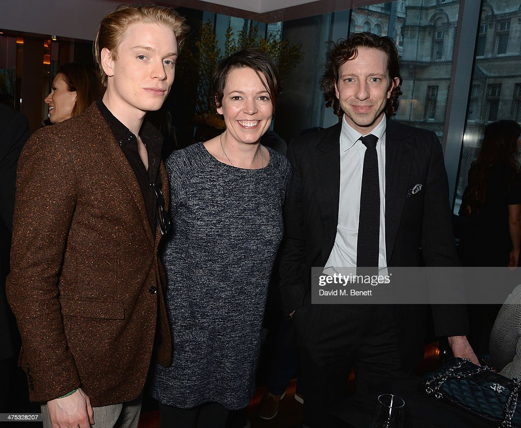 Freddie Fox, Olivia Coleman and guest attend a VIP screening of Harvey Weinstein's 'Escape From Planet Earth' at The W Hotel on February 27, 2014 in London, England.