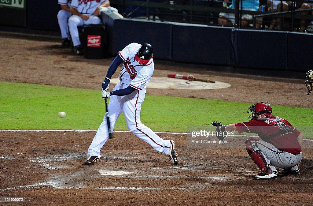 Freddie Freeman 5 Of The Atlanta Braves Hits A 7th Inning Home Run Against