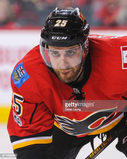 Freddie Hamilton of the Calgary Flames in action against the Anaheim Ducks in Game Four of the Western Conference First Round during the 2017 NHL...