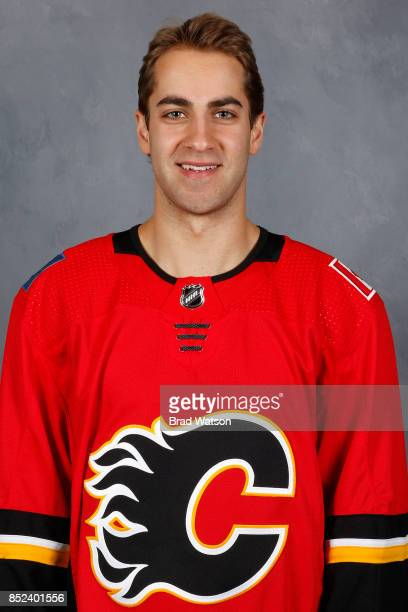 Freddie Hamilton of the Calgary Flames poses for his official headshot for the 20172018 season on September 14 2017 at the WinSport Winter Sport...