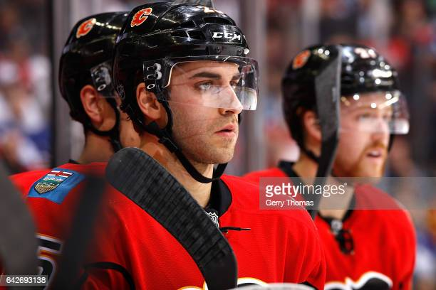 Freddie Hamilton of the Calgary Flames skates against the Toronto Maple Leafs during an NHL game on November 30 2016 at the Scotiabank Saddledome in...