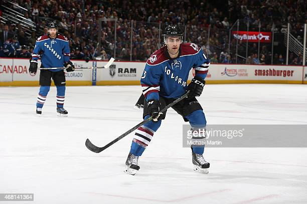 Freddie Hamilton of the Colorado Avalanche skates against the Buffalo Sabres at the Pepsi Center on March 28 2015 in Denver Colorado The Avalanche...