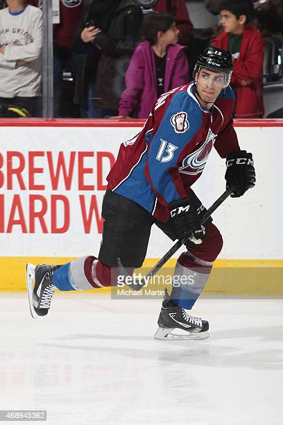 Freddie Hamilton of the Colorado Avalanche skates prior to the game against the Nashville Predators at the Pepsi Center on April 7 2015 in Denver...