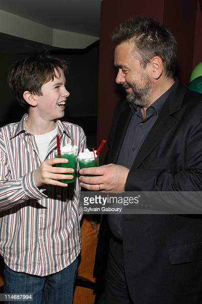 Freddie Highmore and Luc Besson during The Weinstein Companys' 'Arthur and the Invisibles' New York Premiere After Party at Providence at 311 West...