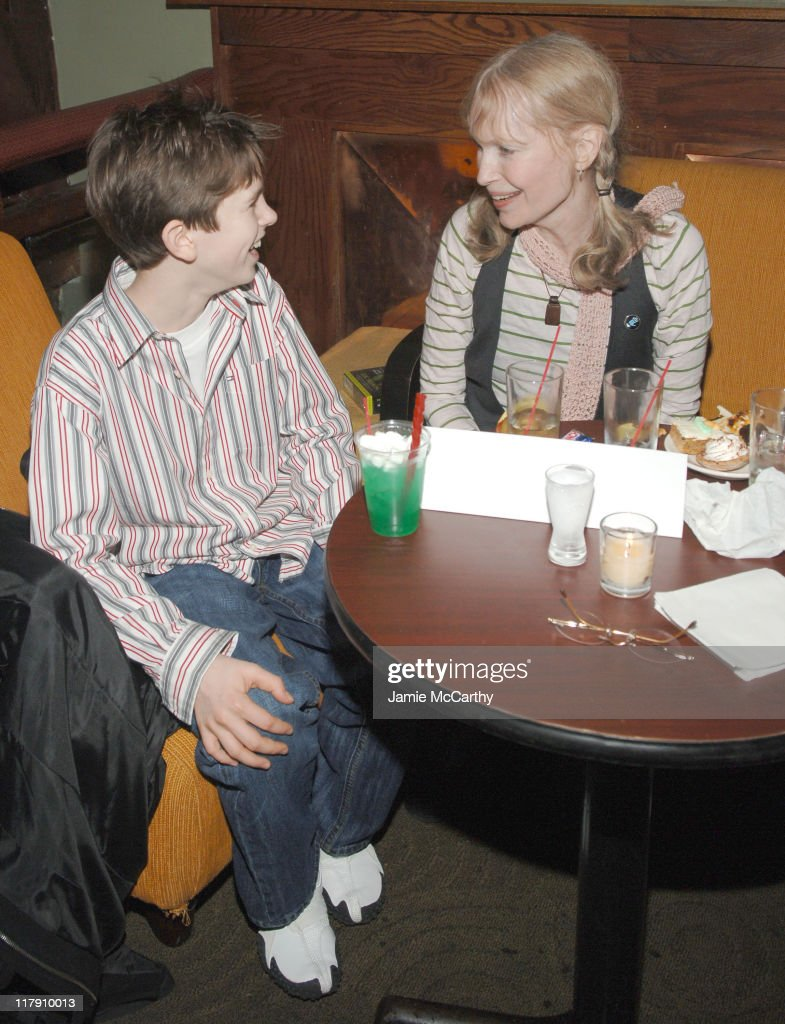 Freddie Highmore and Mia Farrow during Reception Following 'Arthur and the Invisibles' New York City Premiere at Providence in New York City New York...