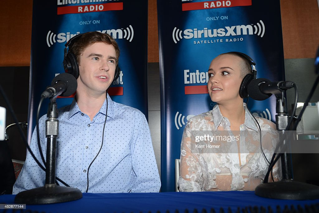 Freddie Highmore and Olivia Cooke are interviewed on SiriusXM's Entertainment Weekly Radio channel from Comic-Con 2014 at The Hard Rock Hotel on July 25, 2014 in San Diego, California.