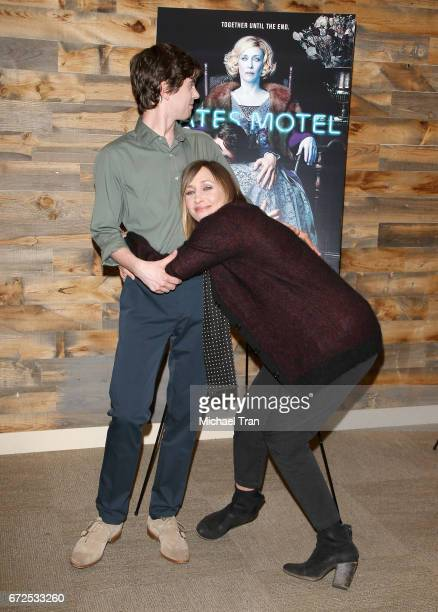 Freddie Highmore and Vera Farmiga attend the Television Academy event for AE's 'Bates Motel' held at Universal Studios Hollywood on April 24 2017 in...