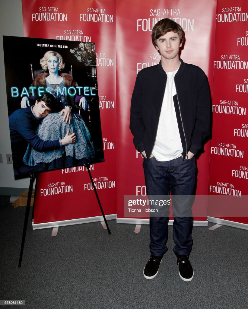 Freddie Highmore attends the SAG-AFTRA Foundation Conversations and Q&A for 'Bates Motel' at SAG-AFTRA Foundation Screening Room on April 25, 2017 in Los Angeles, California.