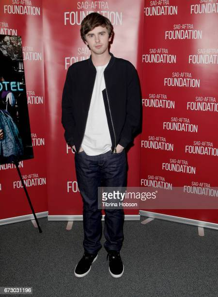 Freddie Highmore attends the SAGAFTRA Foundation Conversations and QA for 'Bates Motel' at SAGAFTRA Foundation Screening Room on April 25 2017 in Los...